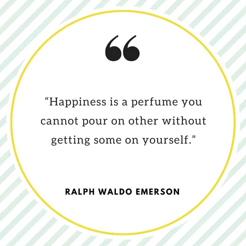Happiness quote from Ralph Waldo Emerson.