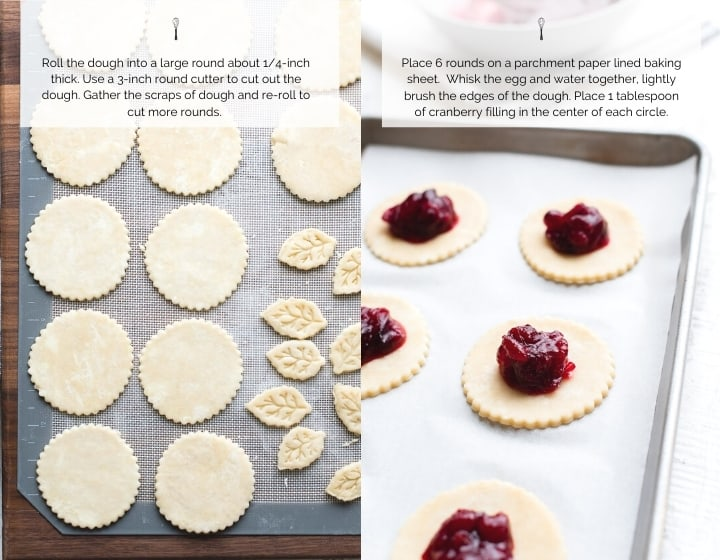 Step by step instructions for how to make Cranberry Hand Pies.