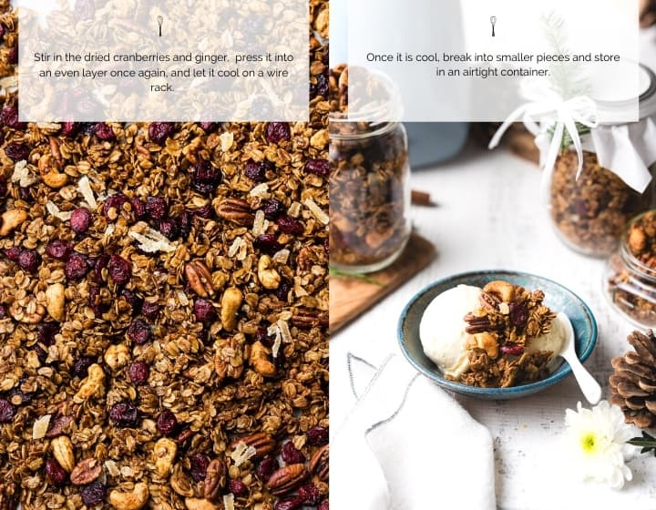 Step by step instructions for how to make Gingerbread Granola.