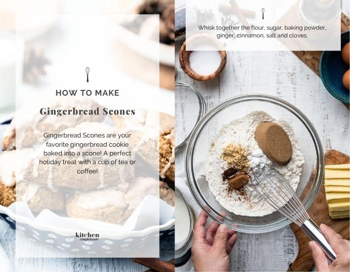 Step by step instructions for how to make Gingerbread Scones