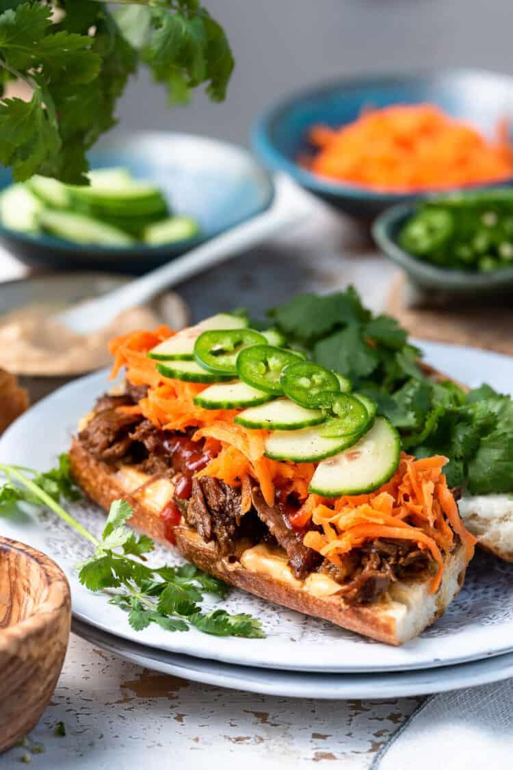 Slow Cooker Bánh Mì Vietnamese Sandwich