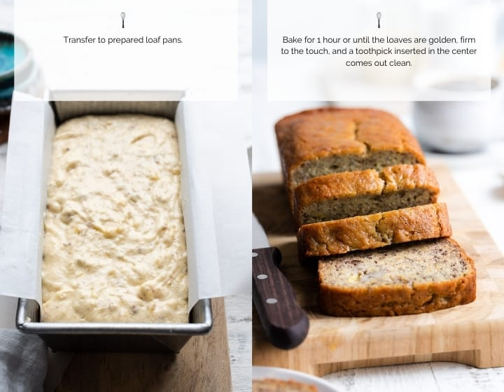 Step by step instructions for how to make the best moist banana bread recipe.
