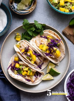 Fish Tacos from The Secret Ingredient Cookbook by Kelly Senyei were one of the Five Little Things I loved the week of May 7, 2021.
