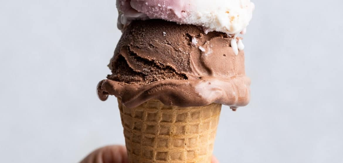 Three scoops of ice cream on a cone - one of the cool treats I love in this weeks Five Little Things the week of July 31, 2021.