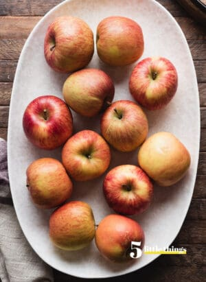 Apples on a platter were one of Five Little Things I loved the week of September 10, 2021.